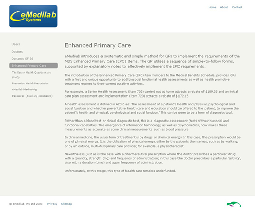 Screenshot of Emedilab website